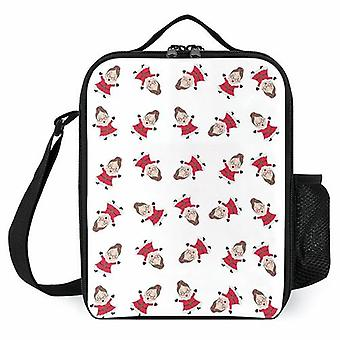 Whirling Mrs Claus Printed Lunch Bags Kids Lunch Cooler Boxes