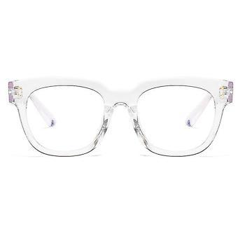 مكافحة الأزرق نظارات الإطار الكبير المرأة ضوء الكمبيوتر حجب النظارات الإشعاع
