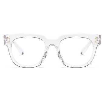 Anti Blue Big Frame Glasses Women Computer Light Blocking Radiation Spectacles