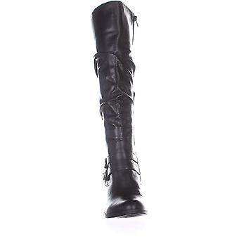 نمط وشركاه Women&s أحذية Sana Almond toe knee high Riding Boots