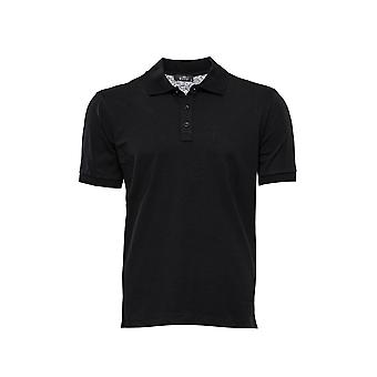 T-shirt nera colletto polo