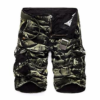 Summer Men's Camo Cargo Shorts, Military Camouflage Male Shorts