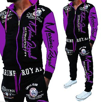 Men Tracksuit Tops And Pants Letter Print Plus Size Jogger Sets