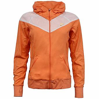 Chaqueta de chándal para mujer Nike Fit Dry Zip Up Orange Cotton 341743 805 A14D