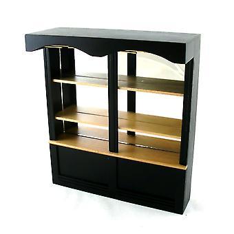 Dolls House Miniatyyri huonekalut Black Oak 1950's Mirrored Shop Cabinet 2 Lahti