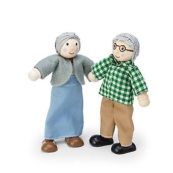 Le toy van - wooden grandparents play set for dolls houses | daisylane dolls house accessories sets