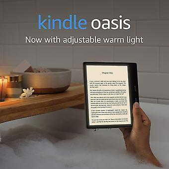 Kindle oasis | now with adjustable warm light | waterproof, 32 gb, free 4g + wi-fi | graphite 32 gb