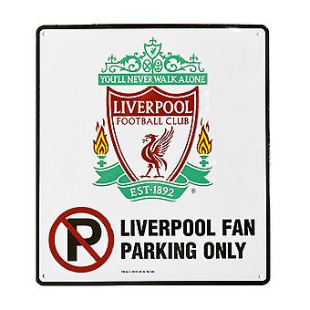 Liverpool FC Official Fan Parking Only Room Sign