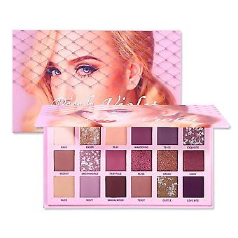 Waterproof And Sweat Proof, Long-lasting Changeable- Pink/violet Eye Shadow