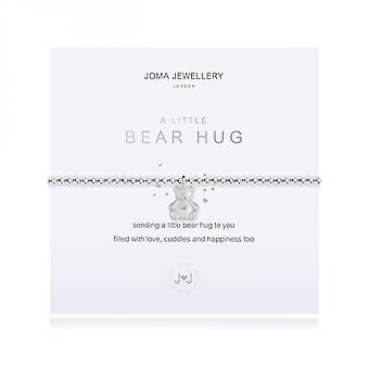 Joma Jewellery A Little Bear Hug Silver Bracelet 17.5cm Stretch Bracelet 3883