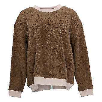 Cuddl Duds Women's Pullover Jersey Pajama Top Brown A381802