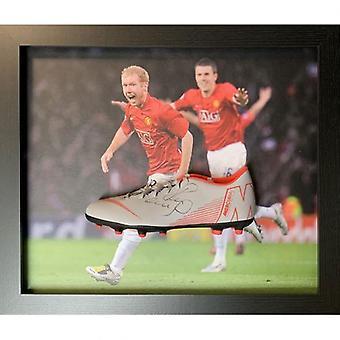 Manchester United Scholes Signed Boot (Framed)