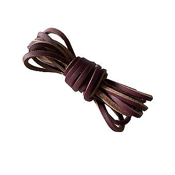 Dark Brown Leather Shoelaces & Boot Laces