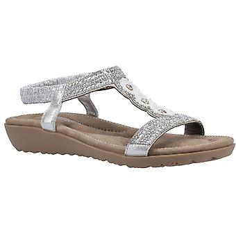 Fleet & Foster tabitha womens ladies comfort sandals silver UK Size