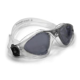 Aqua Sphere Kayenne Swimming Goggle - Dark Lenses - Clear/Silver