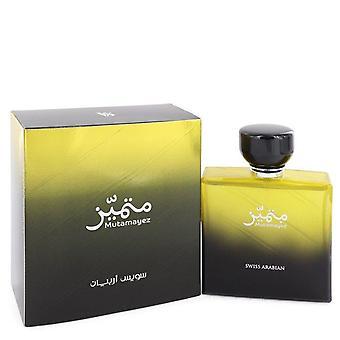 Mutamayez Eau De Parfum спрей от Swiss Arabian 3,4 унции Eau De Parfum Спрей