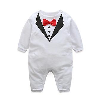 나비 넥타이 서스펜더와 유아 흰색 셔츠에 대한 아기 옷 세트 여름 정장