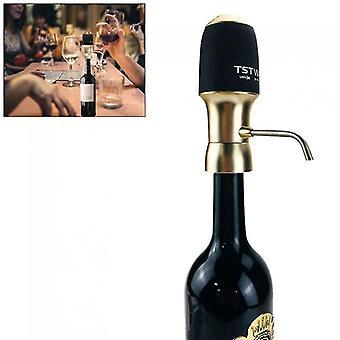 One-touch Champagne Gold Portable 6 Fois pression électrique vin instantané avec