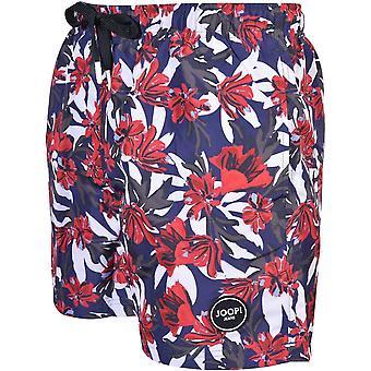 Joop! Floral Print Swim Shorts, Navy/multi