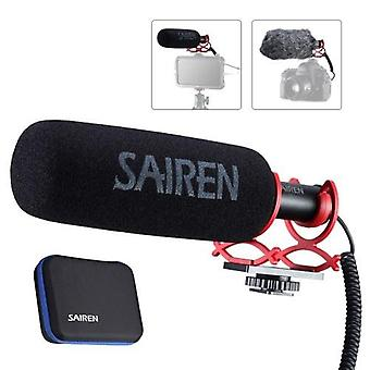 SAIREN Q3 Super Cardioid Condenser Microphone Interview Mic 3.5mm Plug-and-Play