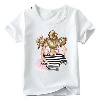 Family Look T-paita, Äiti&tytär&poika Tulosta T-paita