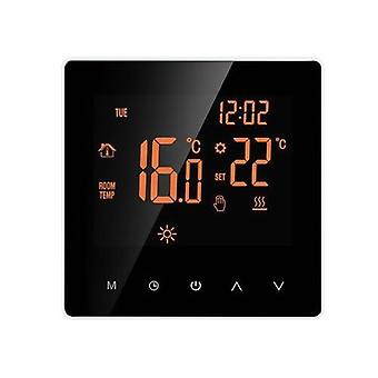 Smart Thermostat Water/Gas Boiler Digital Temperature Controller Touchscreen LCD Display Week Programmable Anti-freeze Function Water Heating Thermostat for Home School Office Hotel