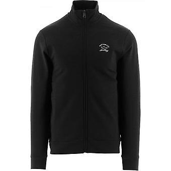 Paul & Shark Black Knitted Logo Jumper