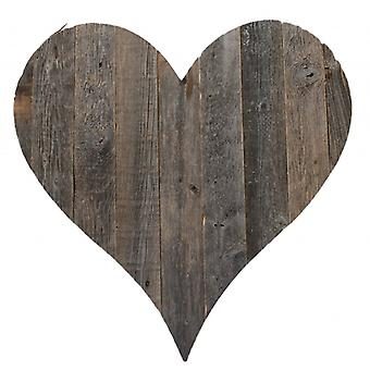 """24"""" Rustic Rustic Weathered Gray Wooden Heart"""