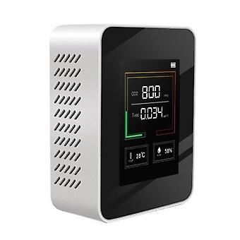 CO2 मीटर एलसीडी बैकलाइट इंडोर कार्बन डाइऑक्साइड CO2 एकाग्रता डिटेक्टर इंटेलिजेंट एयर क्वालिटी एनालाइजर परीक्षक तापमान और आर्द्रता प्रदर्शन के साथ