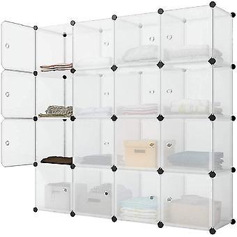 FengChun Kleiderschrank Kunststoff DIY Regalsystem Tragbares Steckregal Garderobenschrank