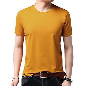 T-shirt à manches courtes yangfan pour homme à manches courtes couleur ronde
