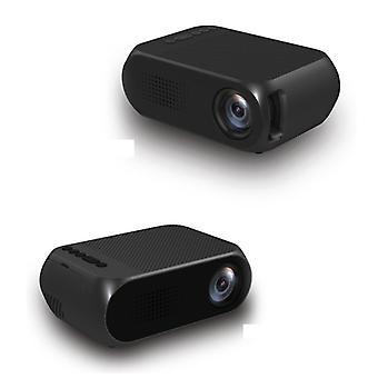 Veidadz YG320 Mini LED-projektori - Screen Beamer Home Media Player Musta