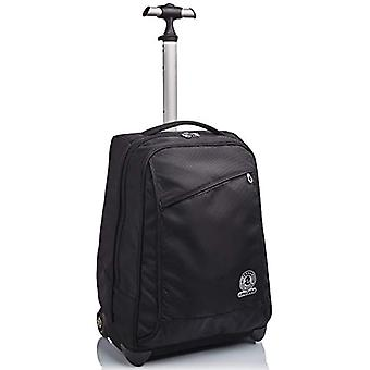 Trolley Invicta , Benin Eco-Material, Black, 2 in 1 with Shoulder straps for backpack use