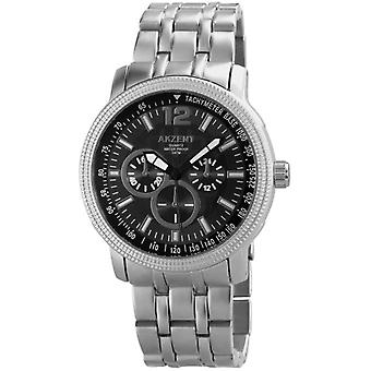 Akzent ss8871100006 - Men's wristwatch, strap in different silver colour materials