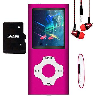 Mp3 Mp4 Music Player With 32gb Memory Sd Card