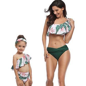 Mother Daughter Sexy Swimwear Bikini High Waist Dresses