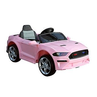 Elektrisch lenkbares Kinderauto rosa