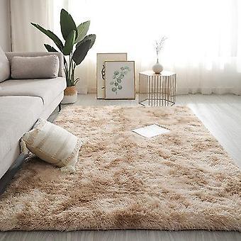 Long Hair Table Rug Bedroom Room Bay Bedside Carpet -  - Set 2