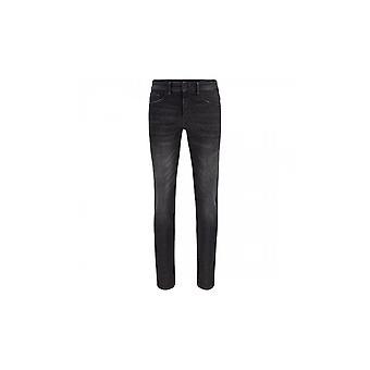 Hugo Boss Charleston Bc Peach Extra Slim Fit Donkergrijze Jeans