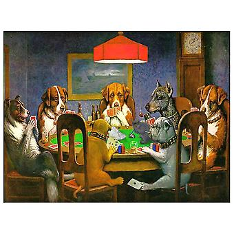 Canvastryck - Dogs Playing Poker - A Friend In Need - Cassius Marcellus Coolidge - Dekorativ Väggkonst