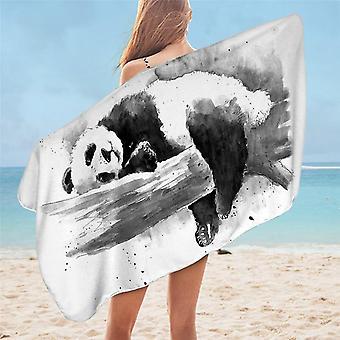 Beddingoutlet Panda Bath Towel Bathroom Microfiber Cartoon Beach Towel Animal