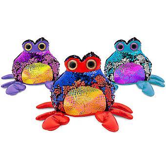 "Doodle 7"" Glitzies Crab Magic Sequin Plush, Assorted Colours"
