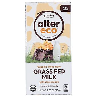 Alter Eco Choc Grssfd Mlk Rice Crnch, Case of 12 X 2.65 Oz