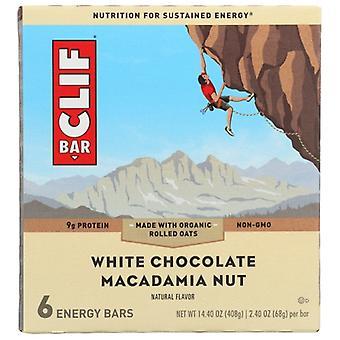 Clif Bar Choc Wht Macadma 6Pc, Case of 9 X 14.4 Oz