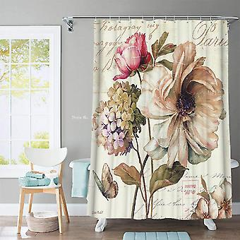 Bestselling 3d Flower And Animal Print Nordic Style Shower Curtain
