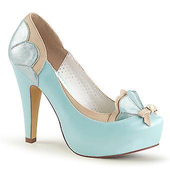 Pin Women's Shoes Up B. Blue-Tan Faux Leather