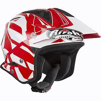 Airoh TRR S Convert Trials Open Face Trials Helmet Red