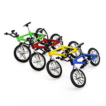 Brinquedo de bicicleta finger board com corda de freio, simulação de bicicleta de linha de caça, mini