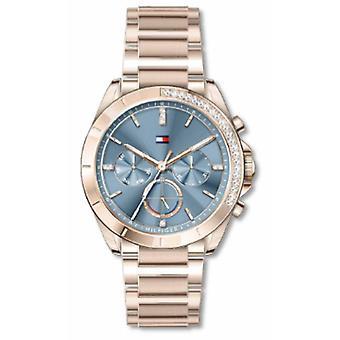 Women's Watch Tommy Hilfiger KENNEDY kellot - 1782386 vaaleanpunainen kultateräs rannekoru