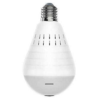 HD 1080P 360 Panoramic Hidden Wifi Camera Light Bulb Home Security Lamp Cam
